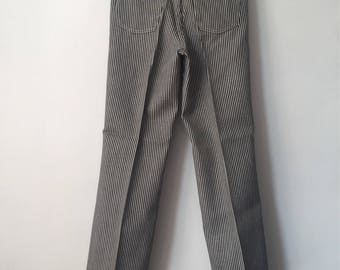 vintage wrangler railroad stripe jeans student size 12 regular deadstock NWT 70s made in USA