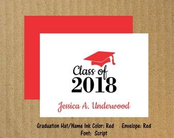 Graduation Cards, Set of 10, Graduation Thank You Cards, Personalized Graduation Note Cards, Thank You Cards, Graduation Note Cards