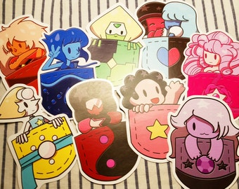 SERIES 1: Steven Universe Pocket Stickers AND Gravity Falls Sticker