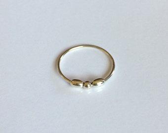 Meditation ring/silver meditation ring/silver twiddler ring/silver ball ring/silver fidget ring/worry ring/fidget ring
