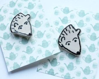 Ceramic Bear Pin
