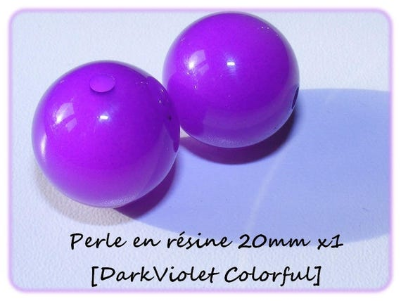 Pearl resin bright 20mm x 1 [DarkViolet Colorful]