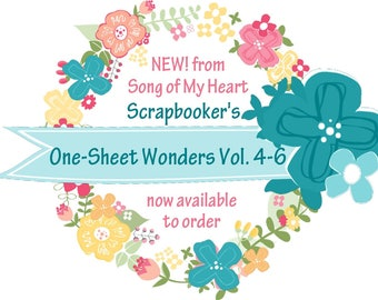 Vol. 4-6 Scrapbooker's One-Sheet Wonders BUNDLE: Instant Digital Download for scrapbooking layout, page guides, Cheat Sheets