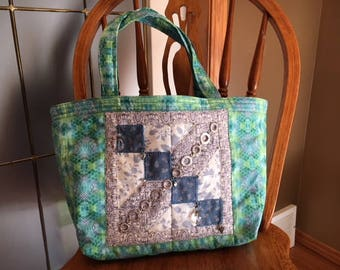 Quilted Tote Bag, Each One Unique