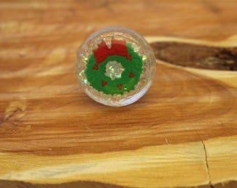 Christmas Wreath Ring