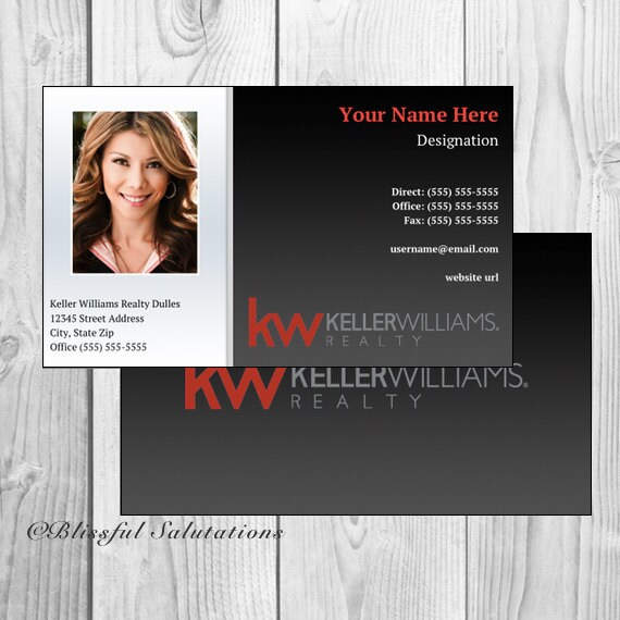 Business cards blissful salutations real estate agent realtor custom business cards full customization fast personalization reheart Images