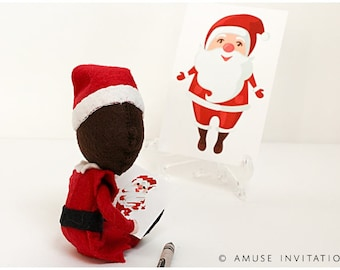 Elf Sketches Santa Claus, Elf Funny Idea, Christmas Elf Accessories, Santa's Elf Prop, Elf Printable, Christmas Elf Ideas, Easy Elf Ideas