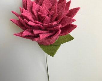 Dahlia flower bouquet, dahlia flower, felt flower, build your own bouquet, felt dahlia, dahlia felt, felt bouquet, dahlia felt flower, ooak