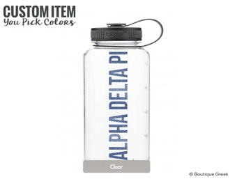 ADPi Alpha Delta Pi Simple Water Bottle Sorority