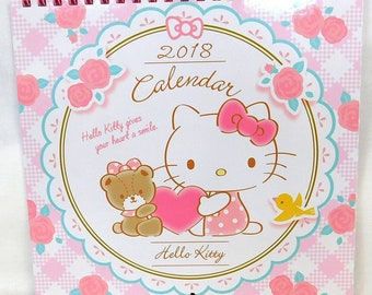 Sanrio Hello Kitty Wall Calendar 2018 + Stickers - ハローキティ ウォールカレンダー