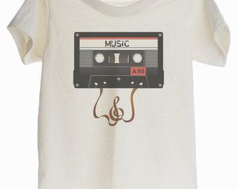 Vintage Analog Tape Cassette  Organic T-shirt for Kids