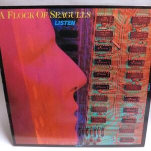 Flock of Seagulls Listen - Vintage Vinyl Record Album - 1983 Jive JL8-8013 EX/NM