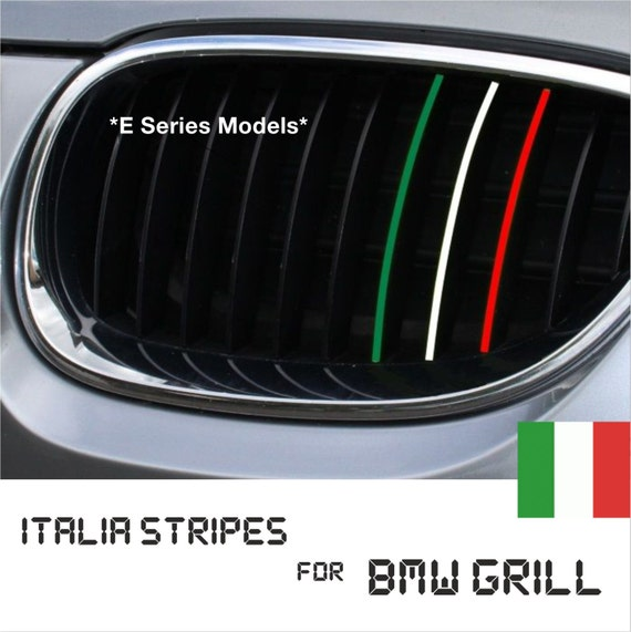 BMW Kidney Grill Italy Italian Stripes M Sport Sticker Decal - Bmw m colored kidney grille stripe decals
