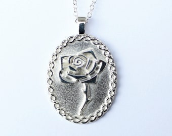 Celtic Rose Shield Necklace