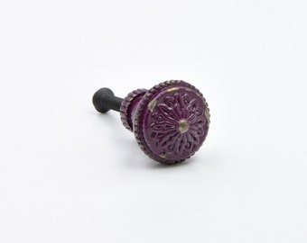 Dark Purple Small Painted Metal Knob, Pull, Handle, For Cupboards, Doors,
