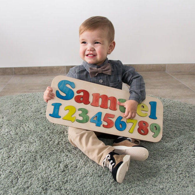 Custom name puzzle personalized baby gifts wooden puzzle zoom negle Images