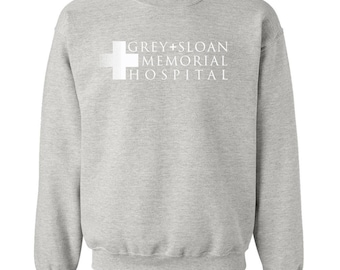 Grey Sloan Memorial Hospital T-Shirt. Grey's Anatomy Sweatshirt. Grey's Anatomy T-Shirt. Meredith Grey. Derek Shepherd. Grey's Sweatshirt.