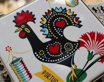 Vintage Colorul Rooster Trivet Portugal
