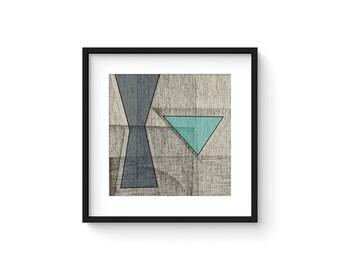 OMNIA no.5 - Abstract Modern Minimalist Mid Century Brutalist Style Art Print