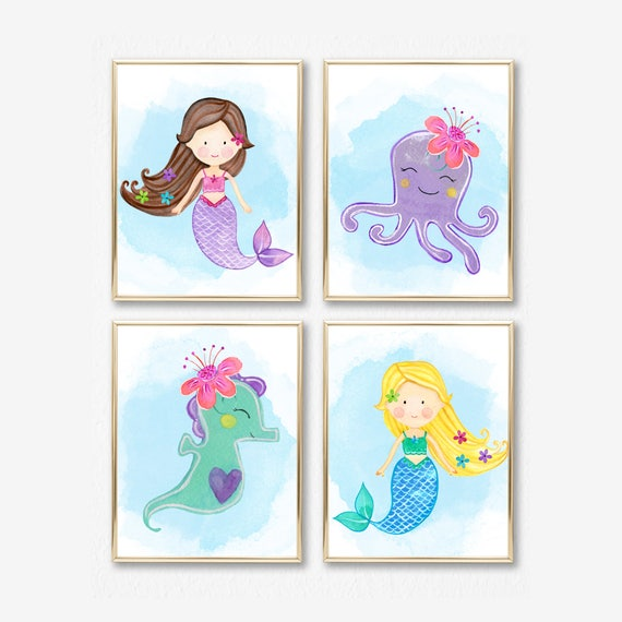 Mermaid Bedroom Art