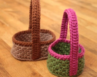 Crochet Basket Pattern - Easter Basket - Two sizes/shapes