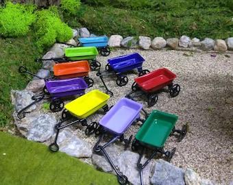 Colorful Wagon Miniature Toys for Fairy Garden or Dollhouse