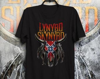 Lynyrd Skynyrd Ronnie Van Zant Black tee Man&Woman model Southern rock 2