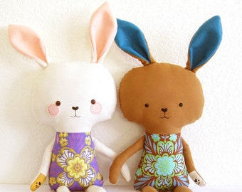 Easter gifts and accessories for kids etsy bunny rabbit pdf sewing pattern stuffed toy softie diy easter negle Gallery
