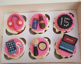 Teenager Cupcake Toppers