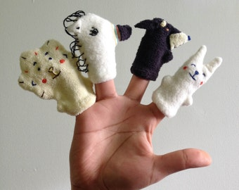 Animal finger puppets