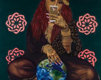SALE - Talking Back With The Selfie Gaze (2016) - Fine Art Giclée Print