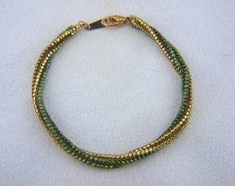 Beadwoven Herringbone Rope Braclet - B007BFL