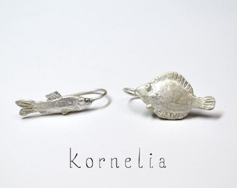 Fish Earrings Silver - Pisces Gift Jewelry - Ocean Jewelry Beach - Summer Jewelry Fish - March Gift - Animal Jewelry - Beach Earrings Ocean