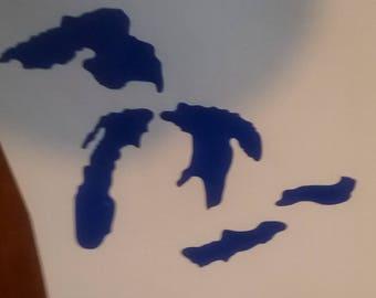 Michigan Great Lakes car decal