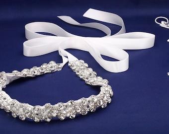 Wedding Dress Sash, Pearl Sash, Bridal Sash, Bridal Belt, Wedding Sash, Wedding Belt, Bridesmaids Sash, Bridal Dress Sash, Crystal Belt