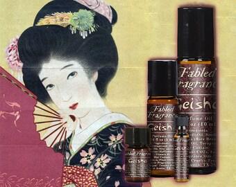 GEISHA Perfume Oil with Green Tea, Magnolia, White Lotus, Soft Musk, Jasmine Sambac, Powder, Japanese, Geiko, Ships Out in 5-8 Days
