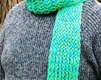 Blue Seafoam Green Crochett Scarf