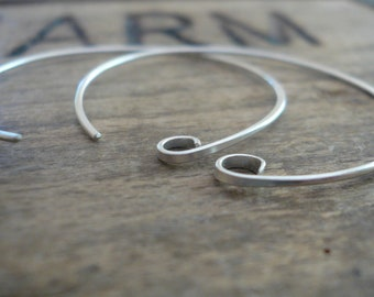 12 Pairs of my Shoals Sterling Silver Earwires - Handmade. Handforged