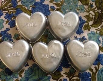 Vintage Jello Molds Jiffy-Jell Heart Shape
