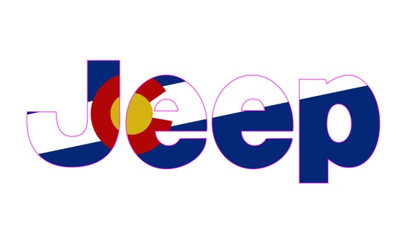 Colorado state flag custom vinyl decal stickers jeep