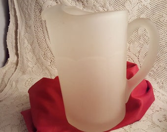 Pitcher Frosted Glass