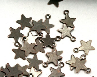300 pcs antique tone brass star 10x8 mm charms ,findings 301AB-36