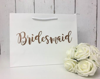 Copper Bridesmaid Bag | Bridesmaid Gift Bag | Bridesmaid Bag | Personalised Bridesmaid Bag | Wedding Gift Bag | Boutique Bag | Thank You