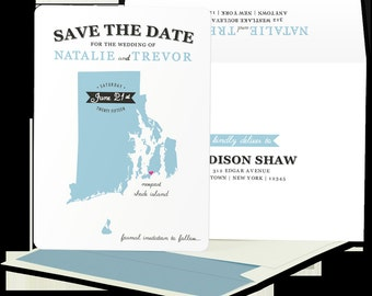 State Silhouette invitation