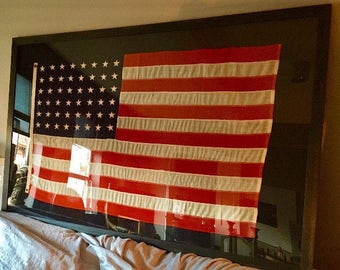 Antique 48 star flag! Giant and super cool