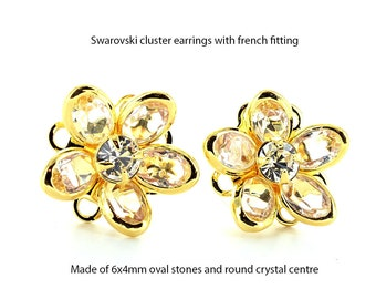 Swarovski 15mm cluster earrings.  Price is for 1 pair