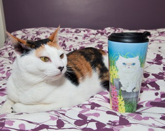 Aangepaste Cat Art Travel Mug