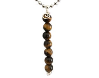 Tigers Eye Pendant Necklace for Women