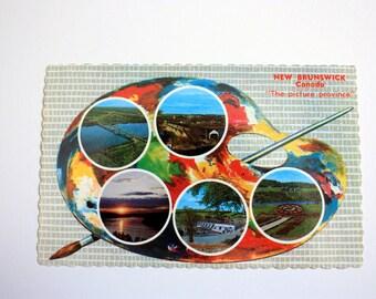 New Brunswick Canada Postcard / New Brunswick Souvenir / Artist's Pallette