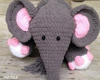Crochet Elephant Pattern/Crochet Pattern/Blanket Yarn/Amigurumi/Elephant/Stuffed Elephant/Crochet Stuffed Animal/Amigurumi Pattern
